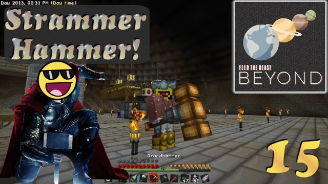 Hammer-Time! Boar, is der groß.  Let's play Minecraft FTB Beyond [E15] [German/Deutsch]
