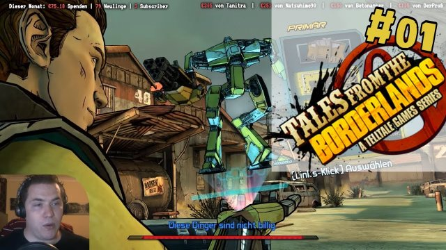 Telltales Story und Borderlands Humor  Let's play Tales from the Borderlands [E01][German/Deutsch]
