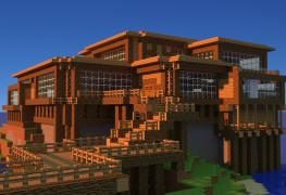 minecraft-beach-house-wallpaper