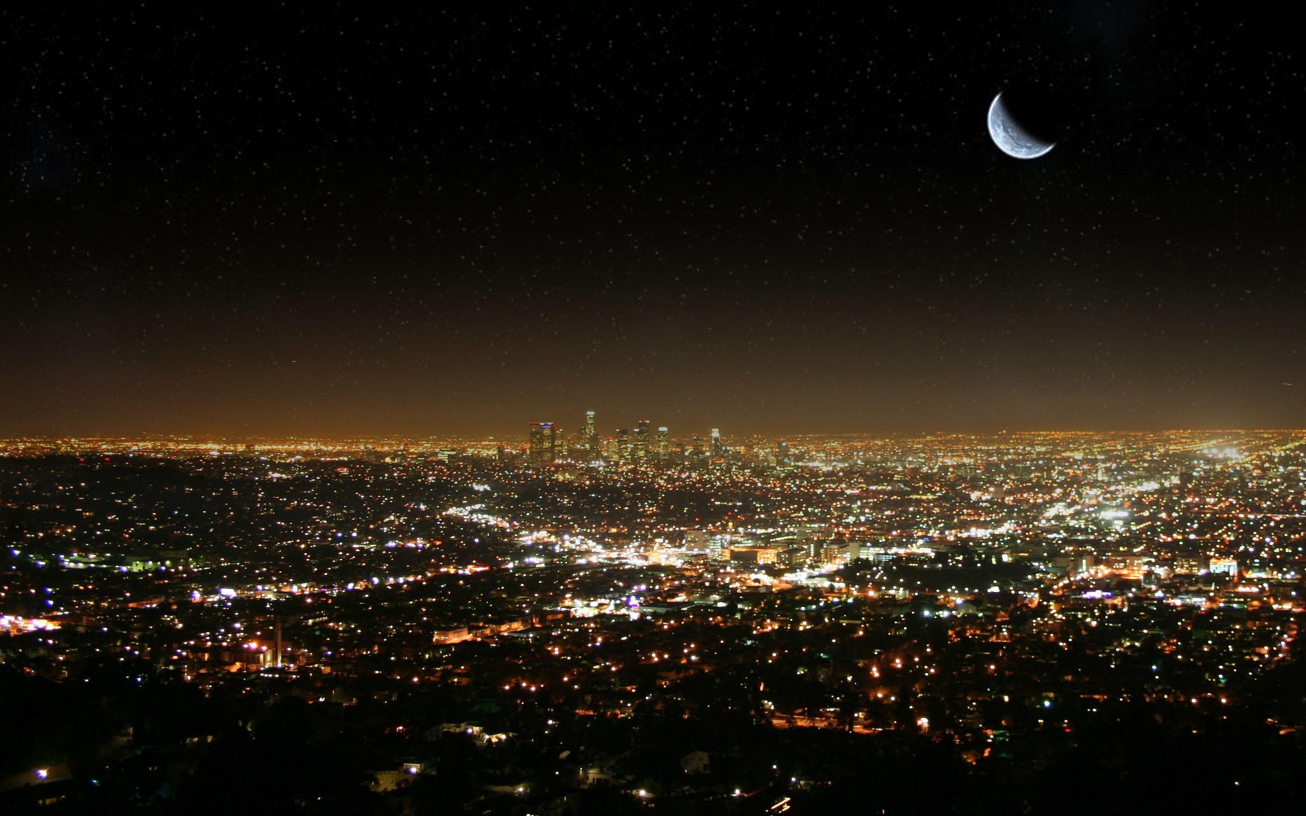 луна над городом  № 1456843 без смс