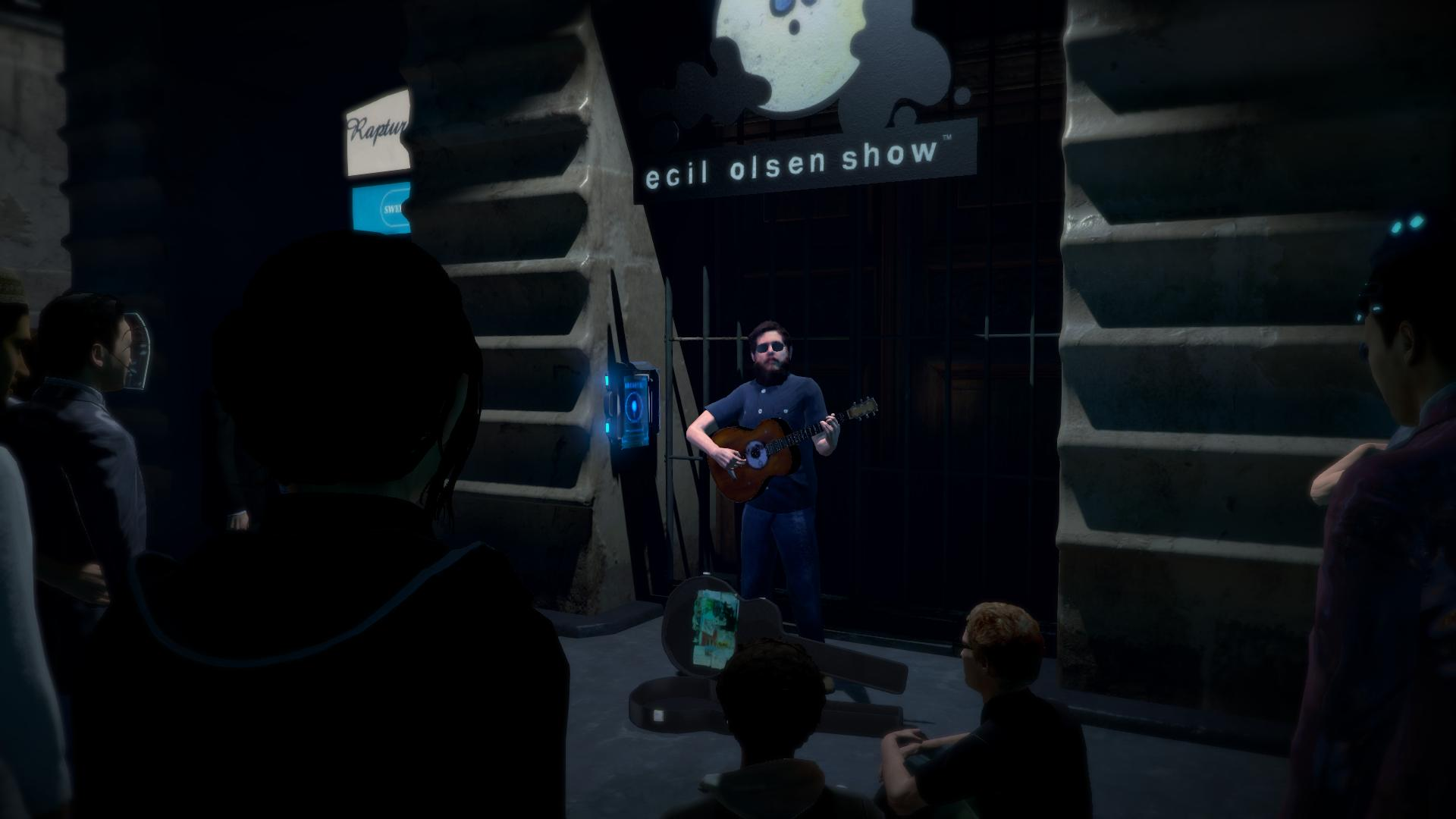 Egil Olsen an der Gitarre - da bleibt man gerne stehen und hört zu