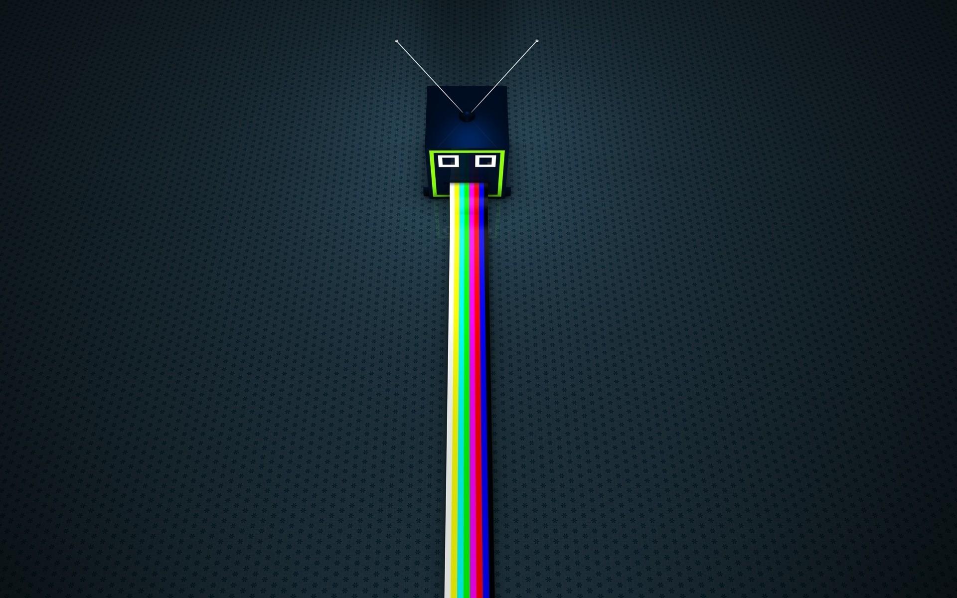 tv-puking-rainbows-funny-hd-wallpaper-1920x1200-7489