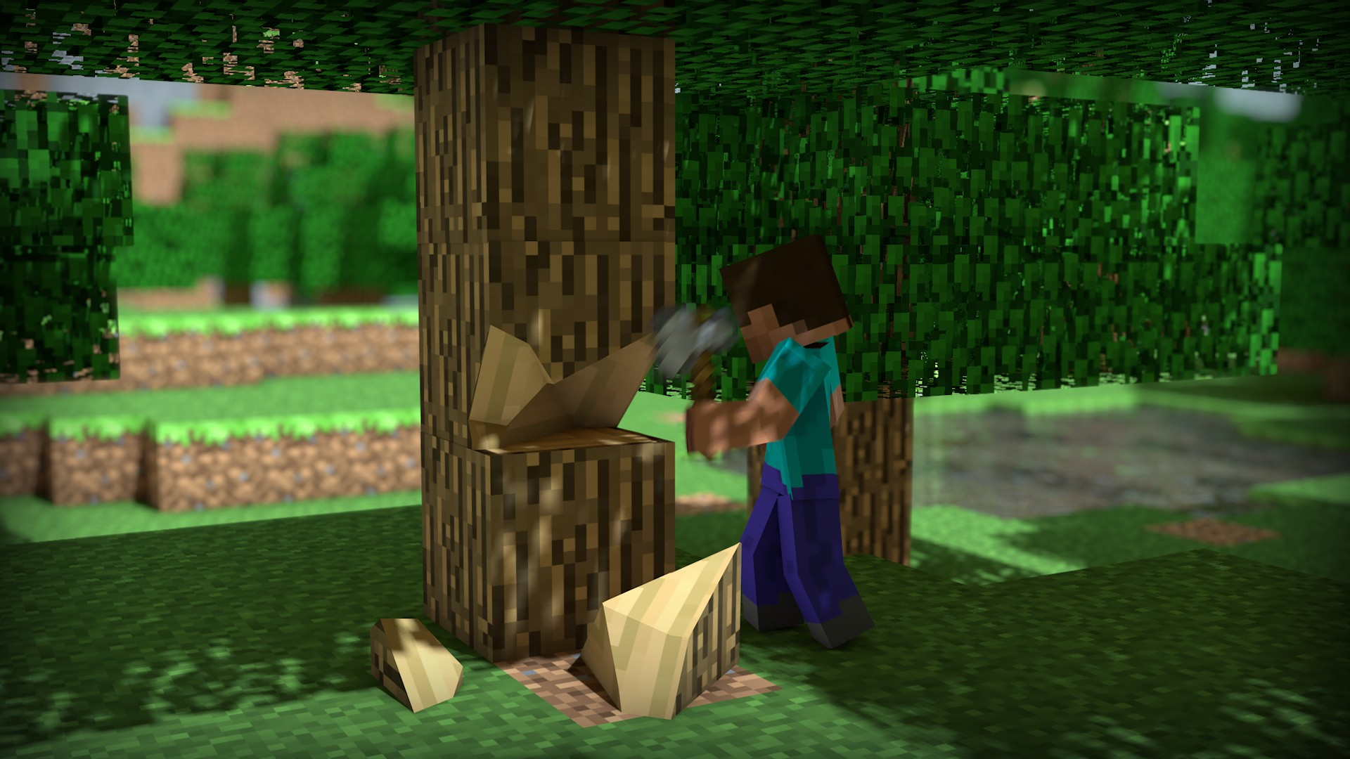 video-games-trees-wood-steve-pixels-minecraft-HD-Wallpapers