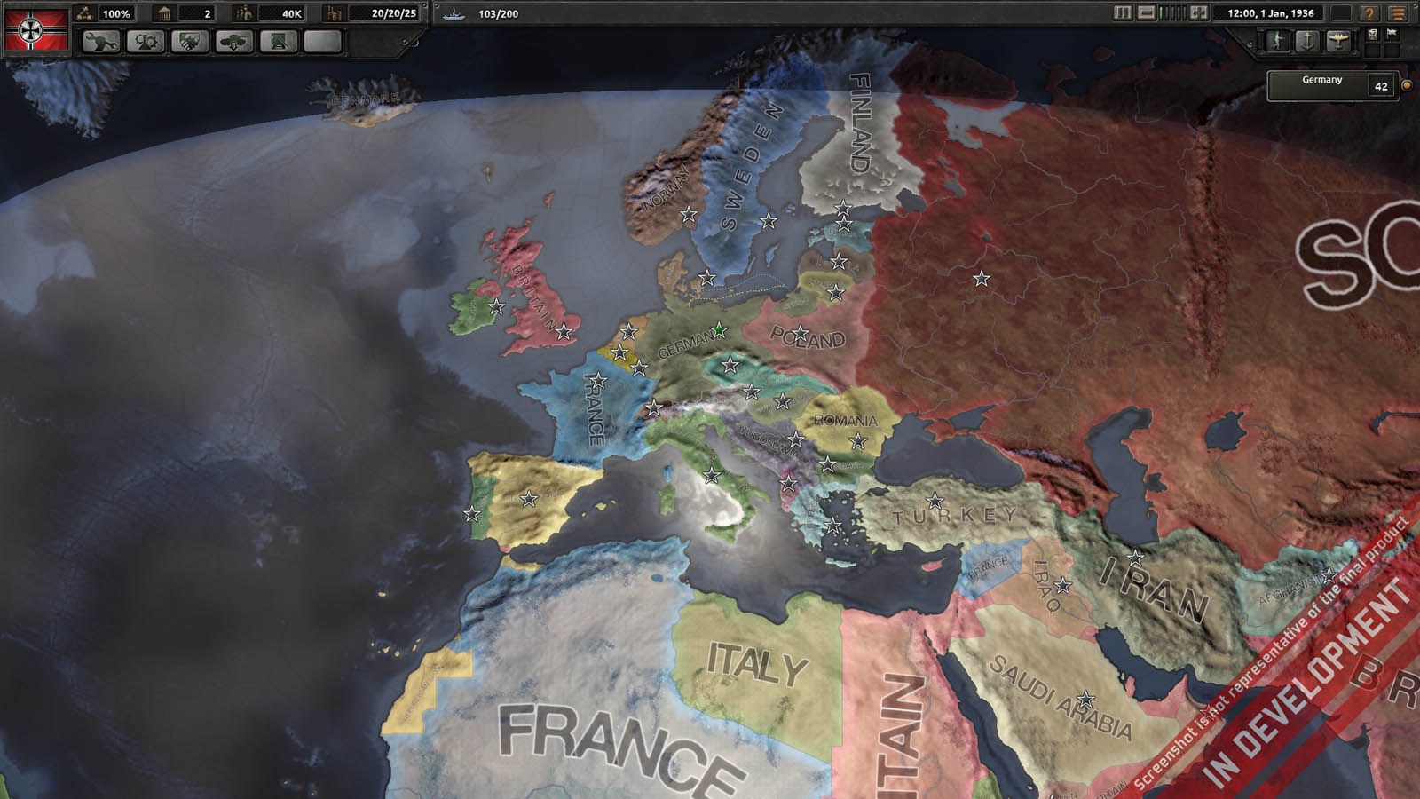 Hearts of Iron 4 Map