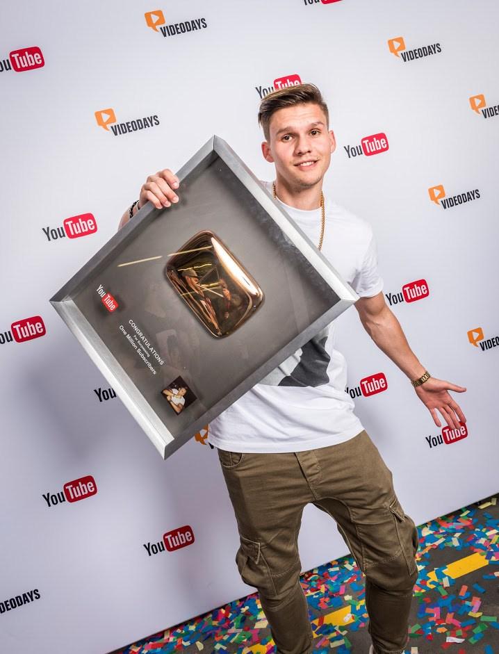 Goldener Play Button Verleihung bei den VideoDays