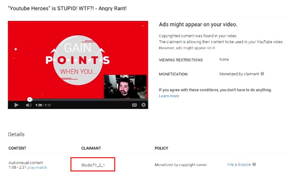 Angry Joes Add-Revenue wurde von jemandem gestohlen, der sich als Studio71 ausgibt.
