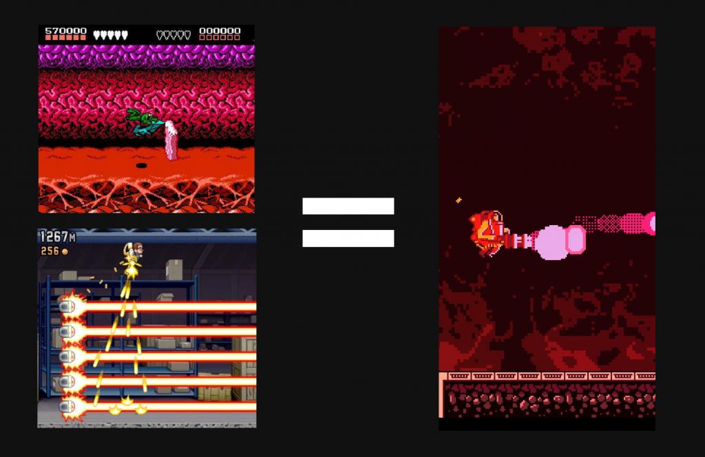Man nehme Jetpack Joyride, kombiniert es mit Battletoads und am Ende kommt RunGunJmpGun heraus.