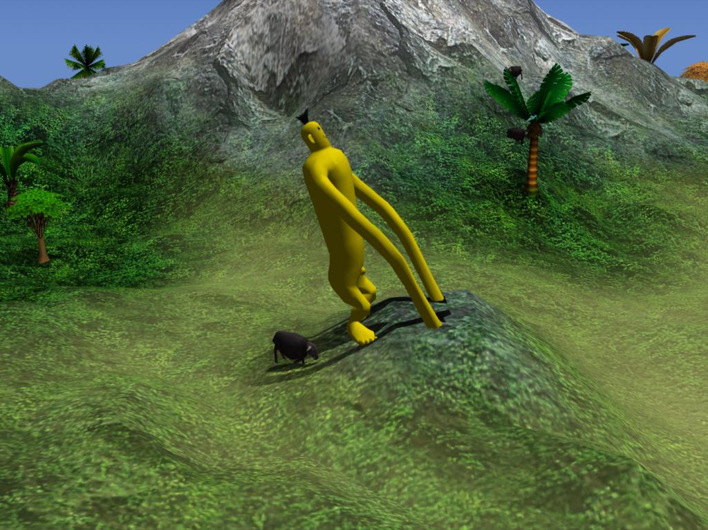 Ein mal ordentlich in die Hände gespuckt und dann erst mal einen Berg aus dem Boden hoch ziehen.