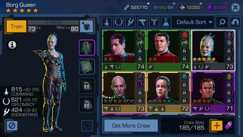 Star Trek Timelines - Die Crew