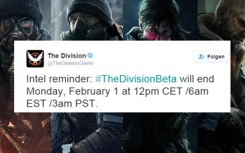 The Division Beta noch offen bis 1. Februar
